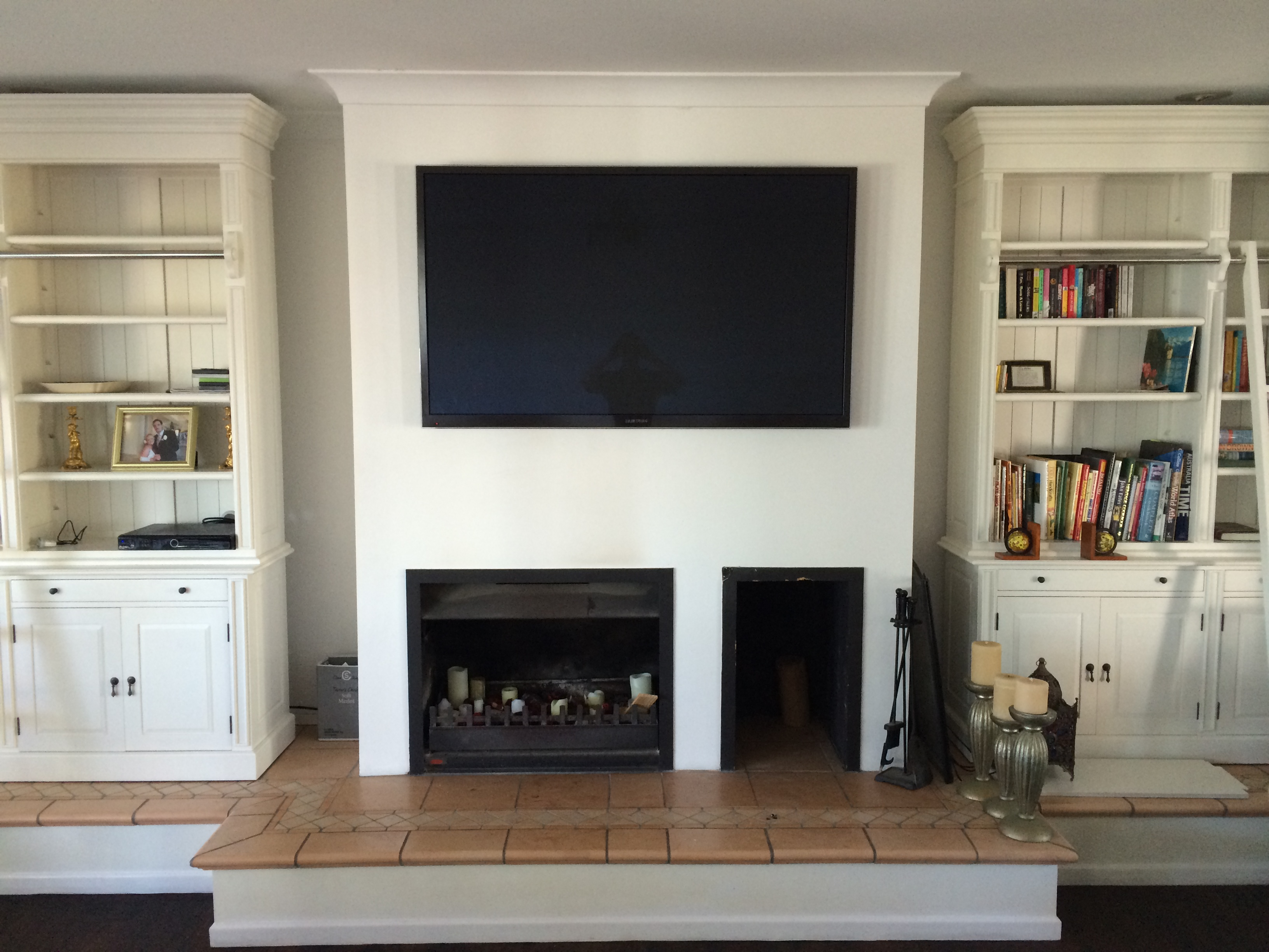 Tv wall mounting brisbane wynne 39 s home electronicswynne - Tv wall mount over fireplace ...